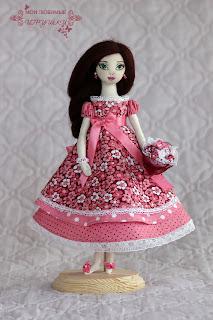 авторская текстильная кукла, cloth art doll, мои любимые игрушки