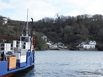 Ferry crossing the River Fowey, Cornwall