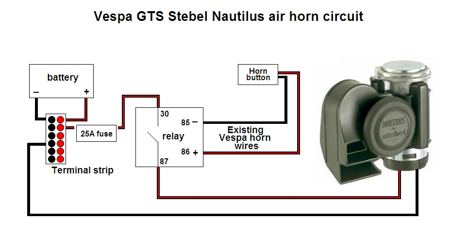 circuit.bmp life on two wheels project report installing a stebel nautilus Train Horn Wiring Diagram at couponss.co