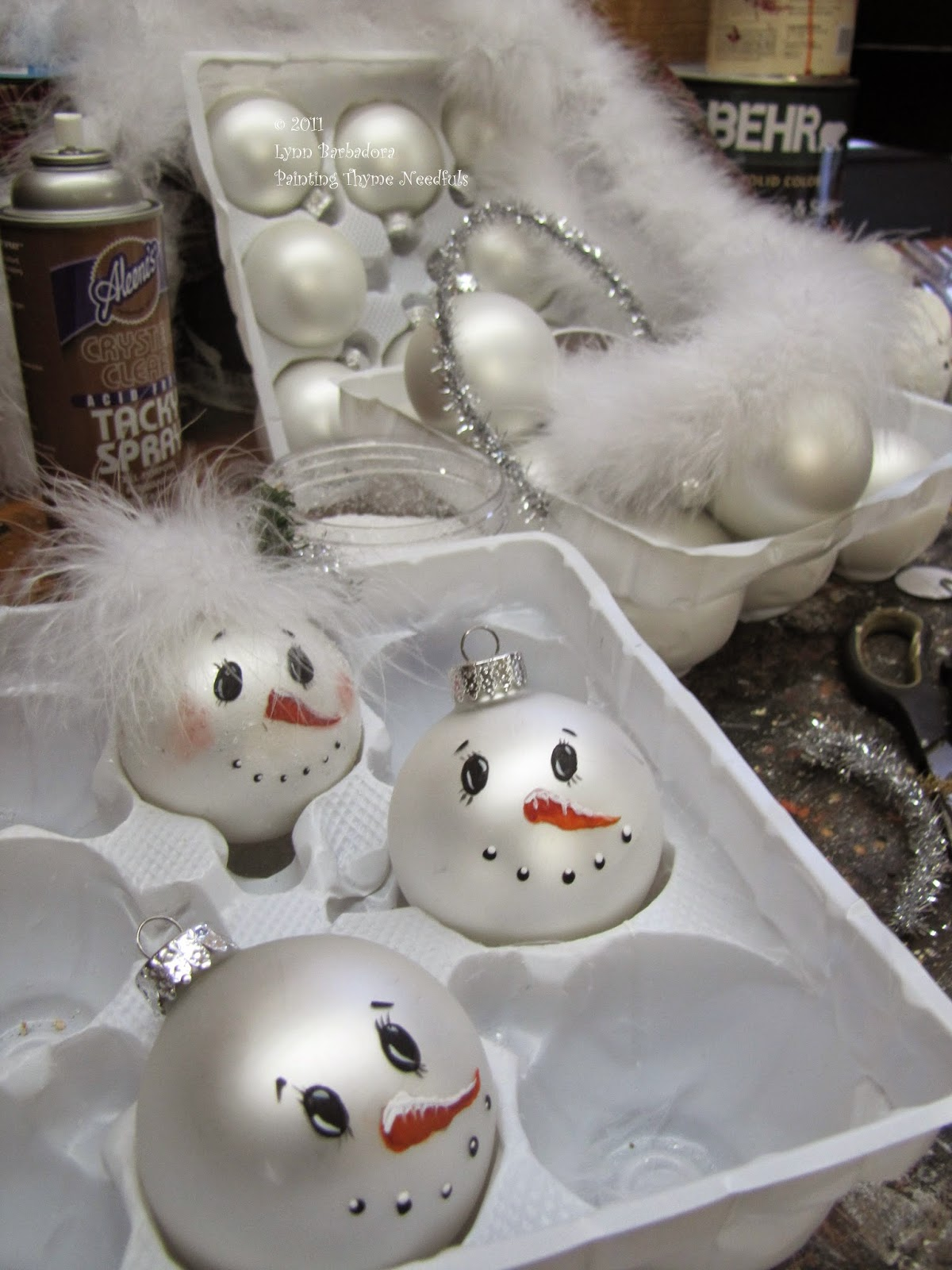 Painting thyme needfuls do you believe in magic for How to paint snowmen