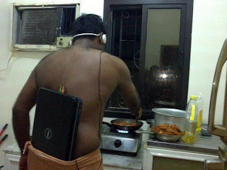 funny picture: black man with laptop