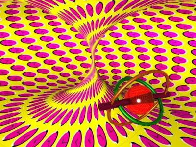 New rotating circle optical illusion