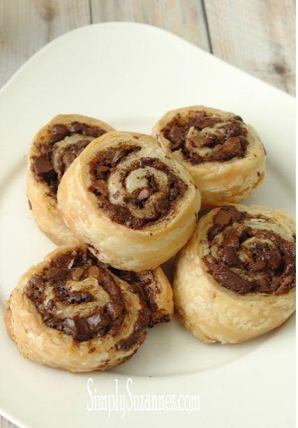 Chocolate Puff Pastry Pinwheels