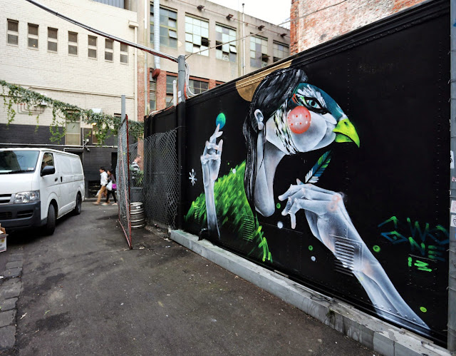 """""""You Can't Lie To Her"""" Newest Street Art Piece By TWOONE In Melbourne, Australia. 1"""