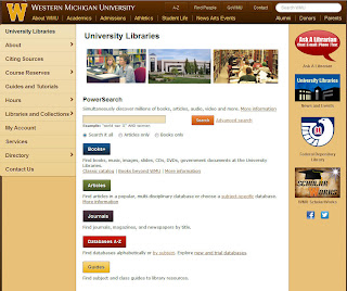 Screenshot of Libraries home page.