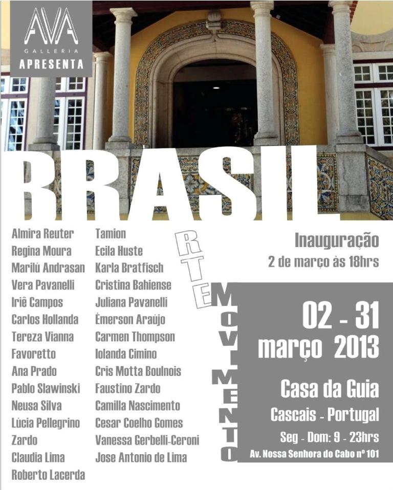 Exposição Brasil Arte em Movimento em Portugal-de 02 à 31/03/13