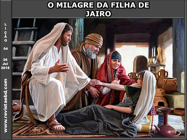 O milagre da filha de Jairo