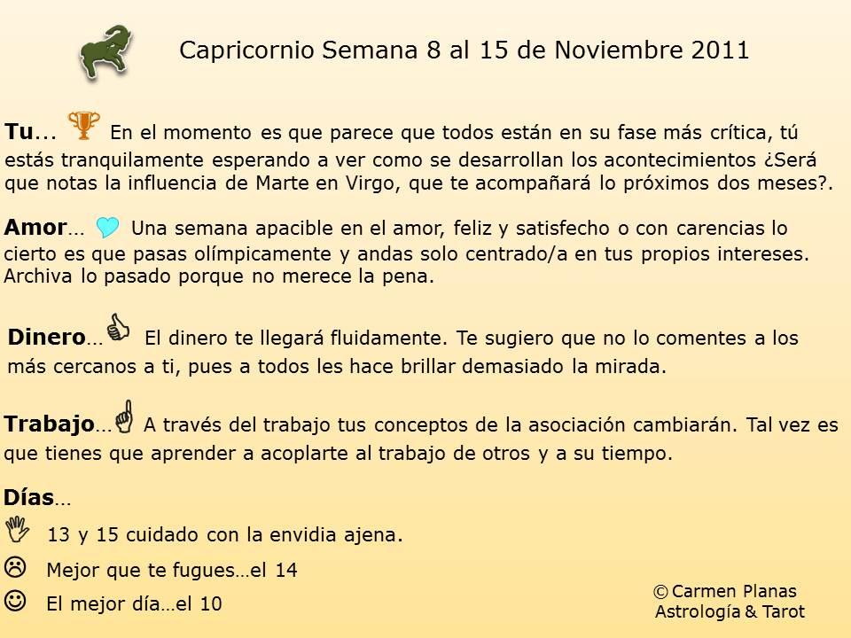 horoscopo capricornio noviembre: