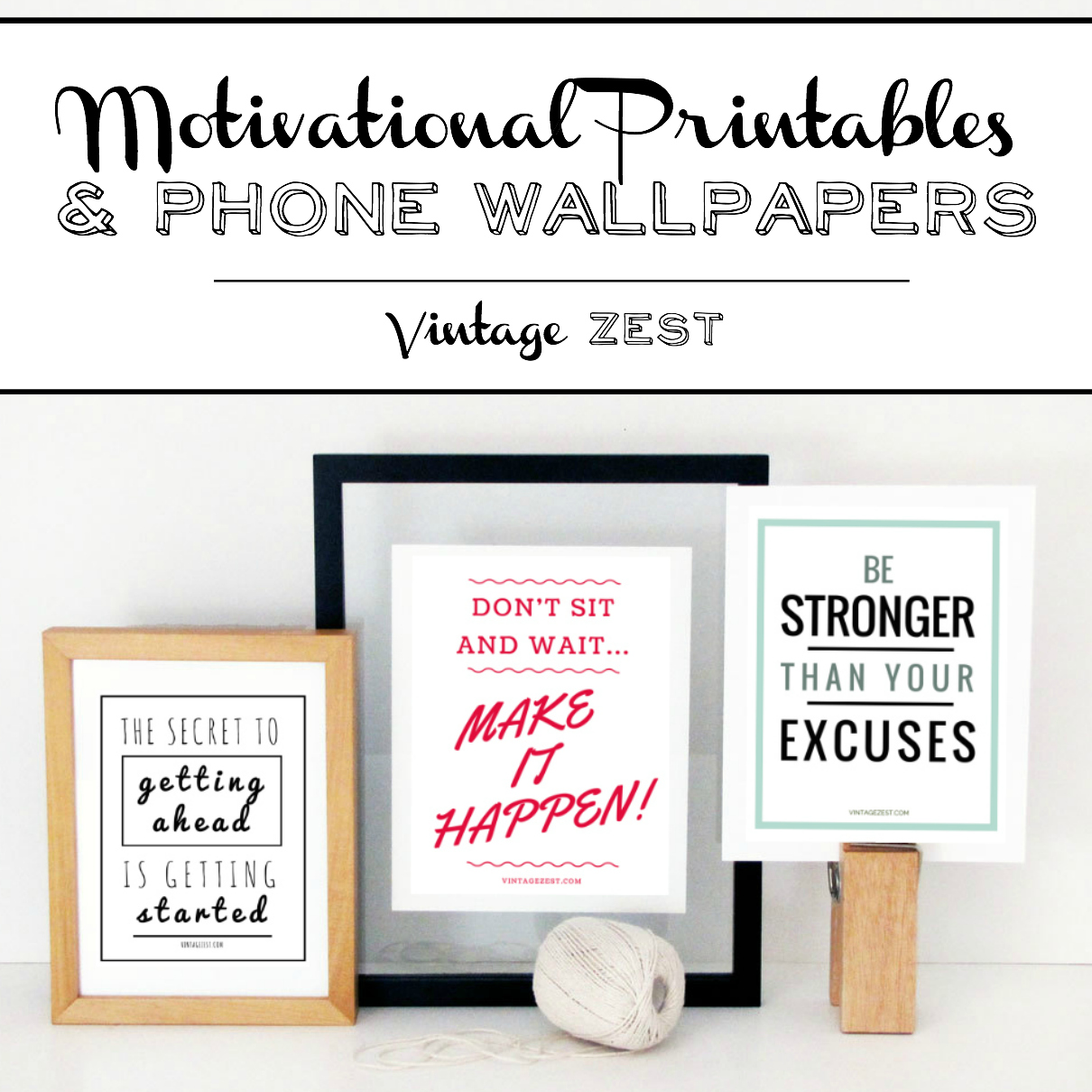 Motivational Printables & Phone Wallpapers on Diane's Vintage Zest!  #ad #V8LlenodeSabor