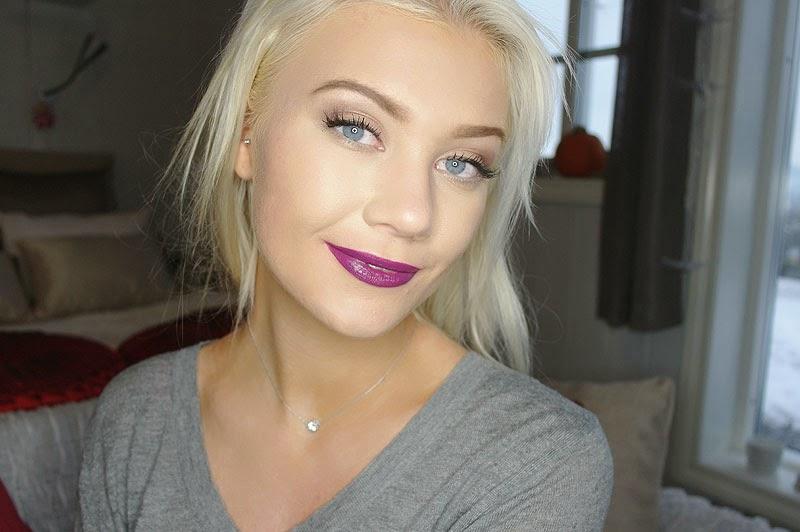 A swatch MUA LUXE Velvet Lip Lacquer in Kooky