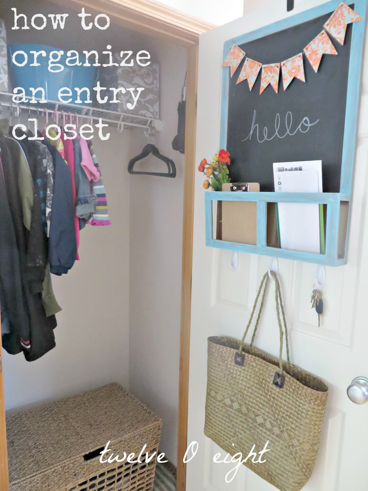 Entryway Closet Before. We Kept The Same System As Before With The Cubbies  We Had Previously Implemented. Those Were