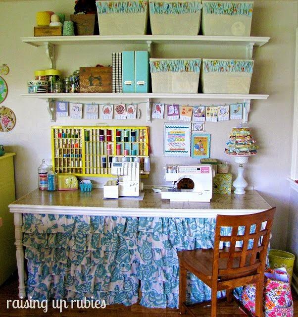 Craftroom reciclando uma mesa velha