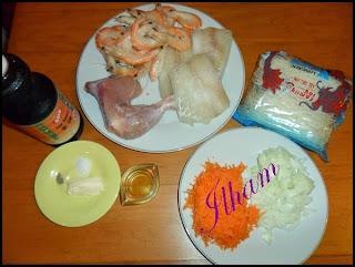 طريقة تحضير صينية بالدجاج والسمك