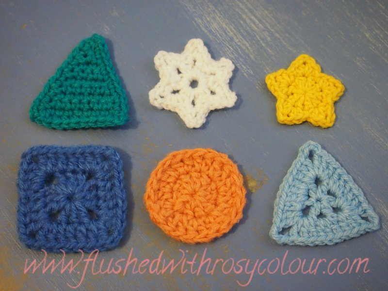 Flushed With Rosy Colour Five Pointed Star Free Pattern