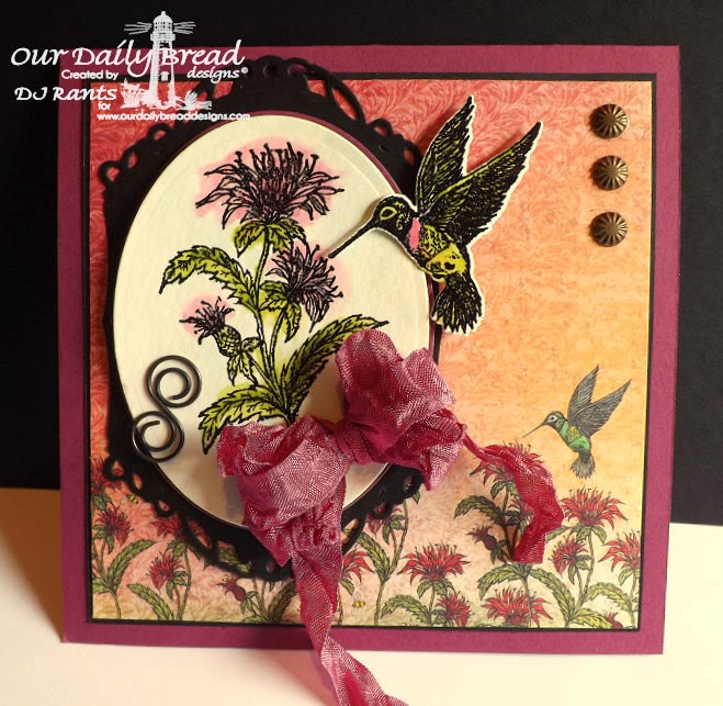 Our Daily Bread Designs, humming bird, bee balm, Blooming Garden Collection