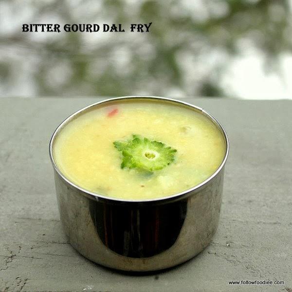 BITTER GOURD DHAL ( DAL ) RECIPE ,   பருப்பு பாவற்காய்