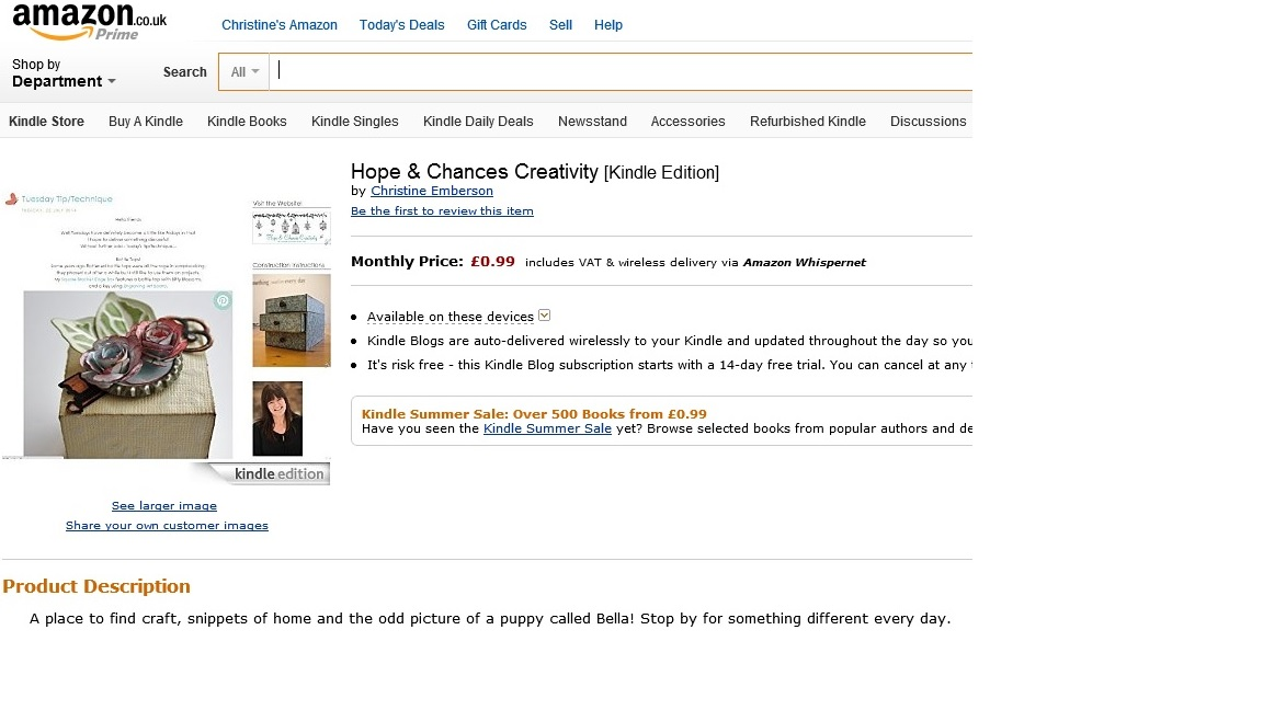 http://www.amazon.co.uk/Hope-Chances-Creativity/dp/B00M0UC7IG/ref=sr_1_1?ie=UTF8&qid=1406199413&sr=8-1&keywords=hope+%26+chances+creativity