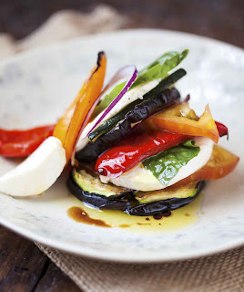Fresh Mozzarella Ratatouille Stacks