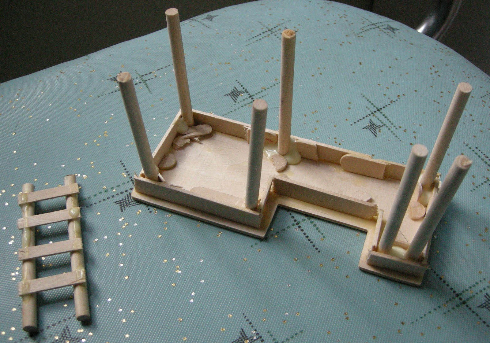 how to make a building out of popsicle sticks