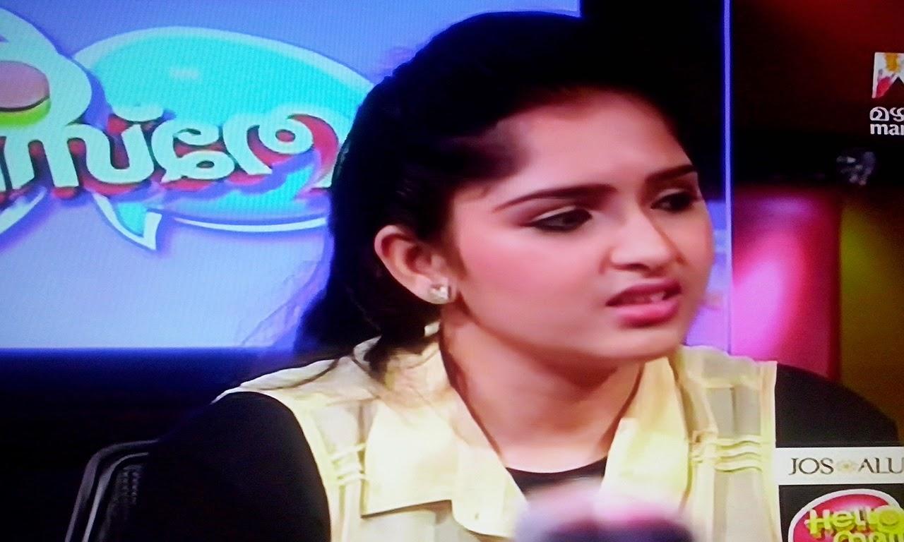 Mahavil Manorama show Hello Namasthe , Sanusha and Sanoop Hello