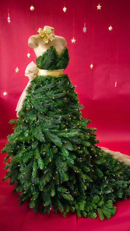 Id e originale comment faire son arbre de no l avec son buste de couture bettinael passion - Sapin de noel diy ...
