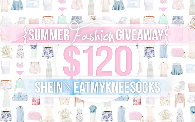 The Eat My Knee Socks/Mimchikimchi intro for the $120 SheIn summer fashion store credit coupon giveaway! Win tons of cool clothes, swimsuits, bags, shoes, and more!