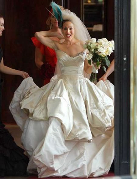Florist wilmington nc bloomers flowers blog wilmington for Sarah jessica parker wedding dress