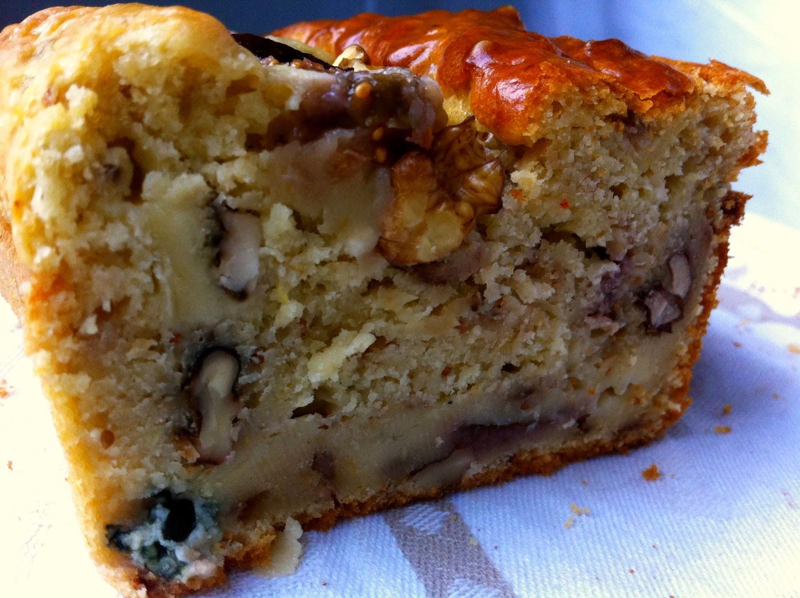 figues noix rapide cake roquefort bleu d'auvergne