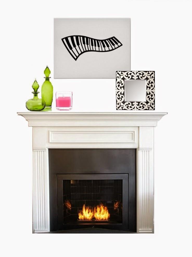 decorate fireplace