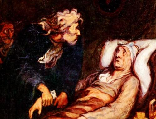 El enfermo imaginario visto por Honoré Daumier.