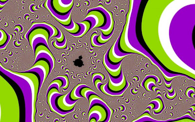 psychedelic screen melt optical illusion580x362 Brain tickling optical illusions