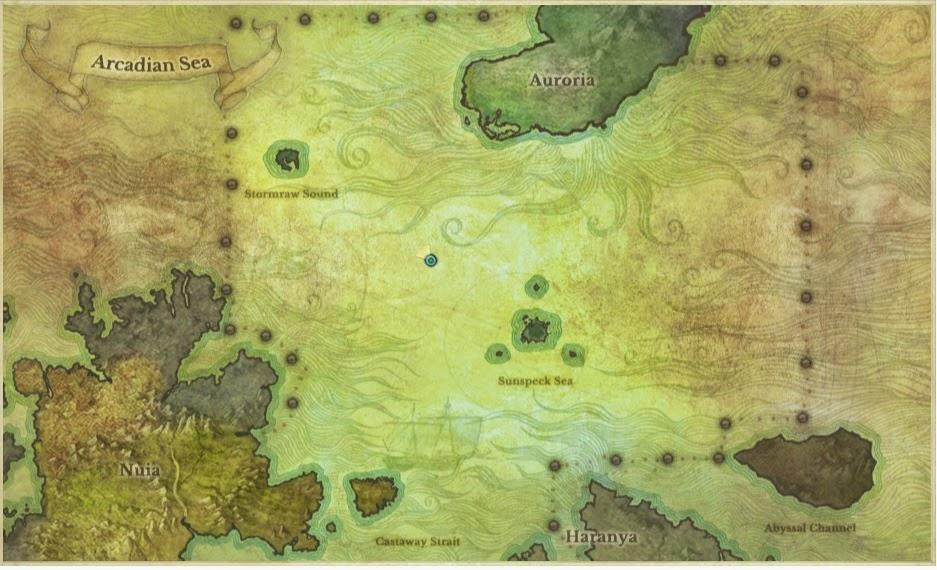 карта мест рыбалки на archeage