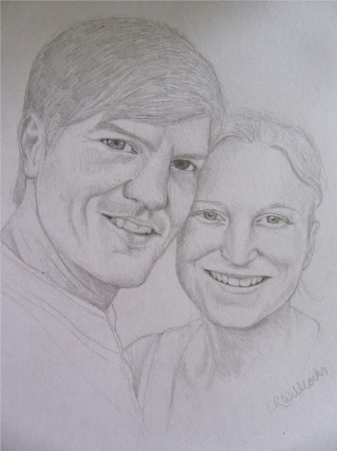 couple pencil drawing