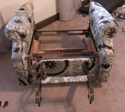 Recliner base, re-covered