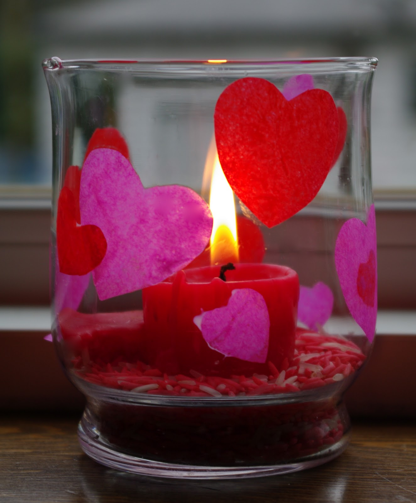 passengers on a little spaceship valentine candle and