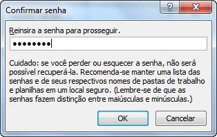Excel 2010 - Senha de proteção
