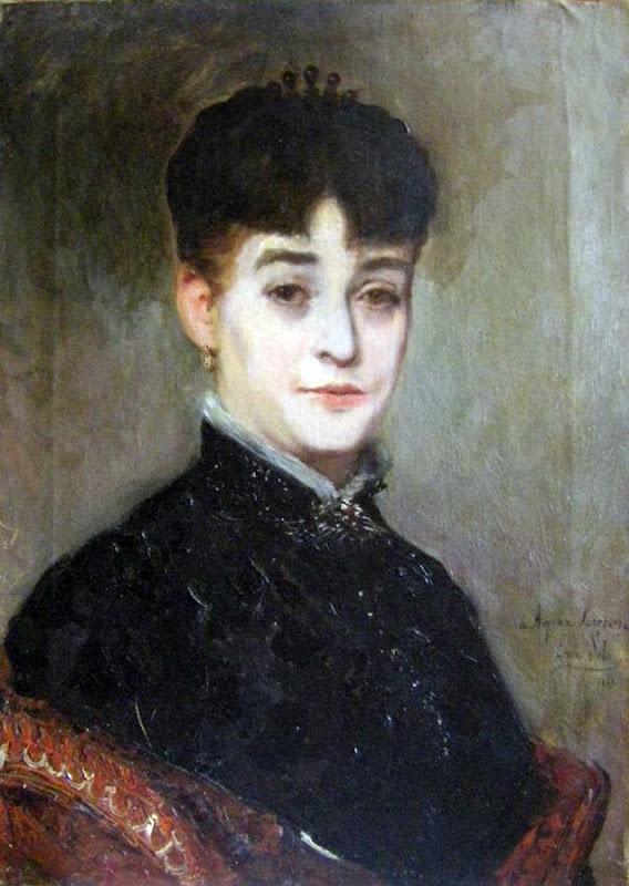 Retrato de Amparo Lerena, Emilio Sala Francés, Pintor español, pintores españoles