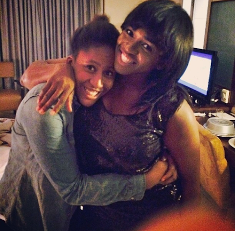 First official picture of mummy Waje and her beautiful daughter