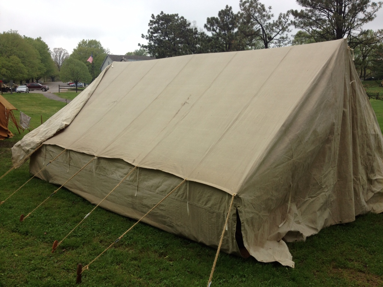 Ex&le of Customer who aged the canvas to get period look & German WWII Tents from Armbruster | Armbruster Tent Maker