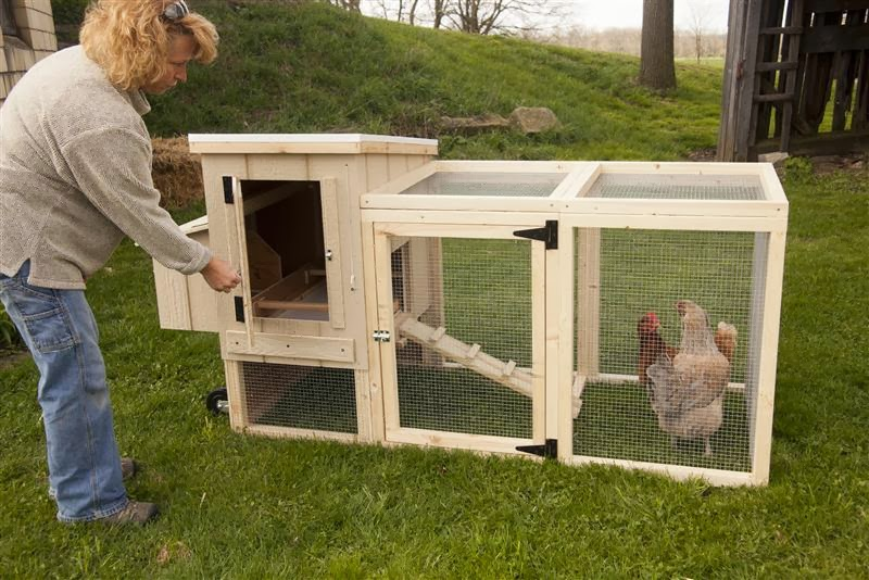 Chicken house plans backyard chicken coop for Diy movable chicken coop