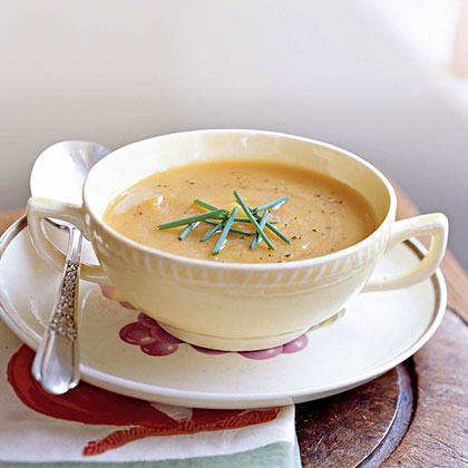 Roasted Butternut Squash & Shallot Soup recipe