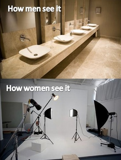 How do men/women see the bathroom