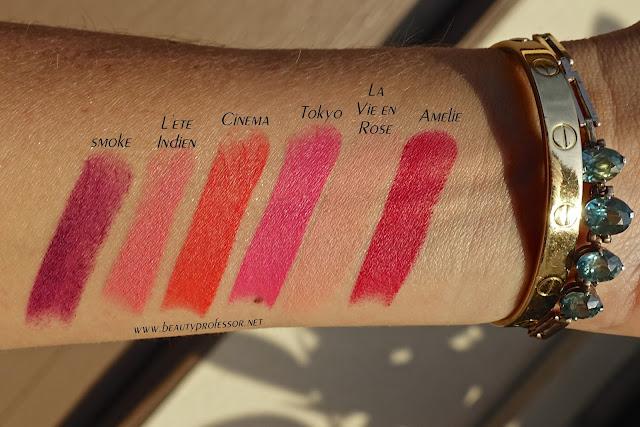 le metier de beaute moisture matte lipstick swatche