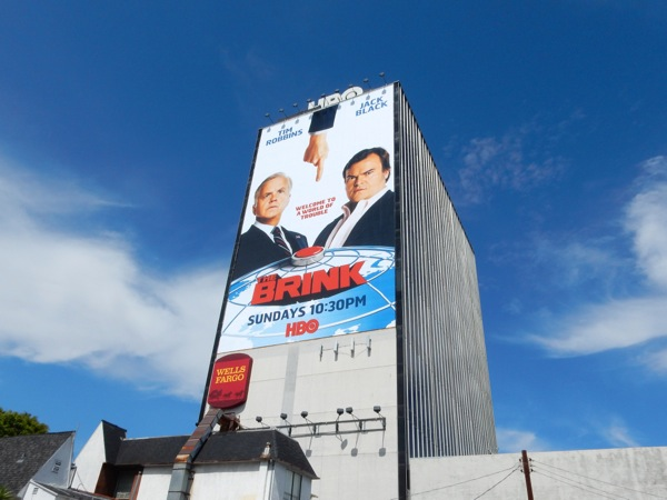 The Brink season 1 giant billboard