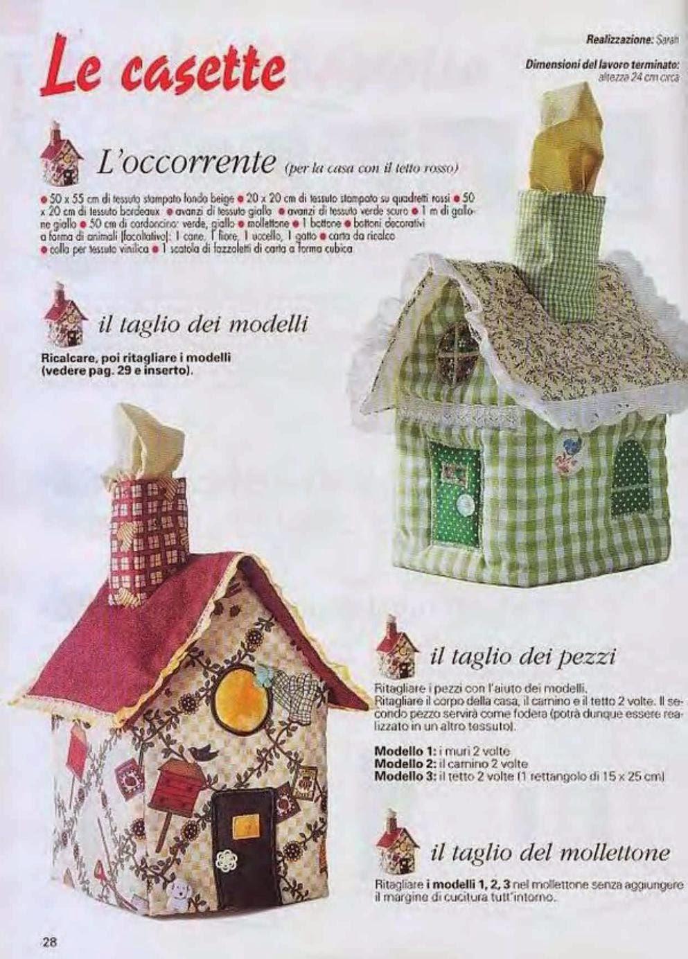 Текстильный домик своими руками выкройки