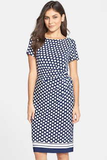 Eliza J Side Tie Jersey Sheath Dress