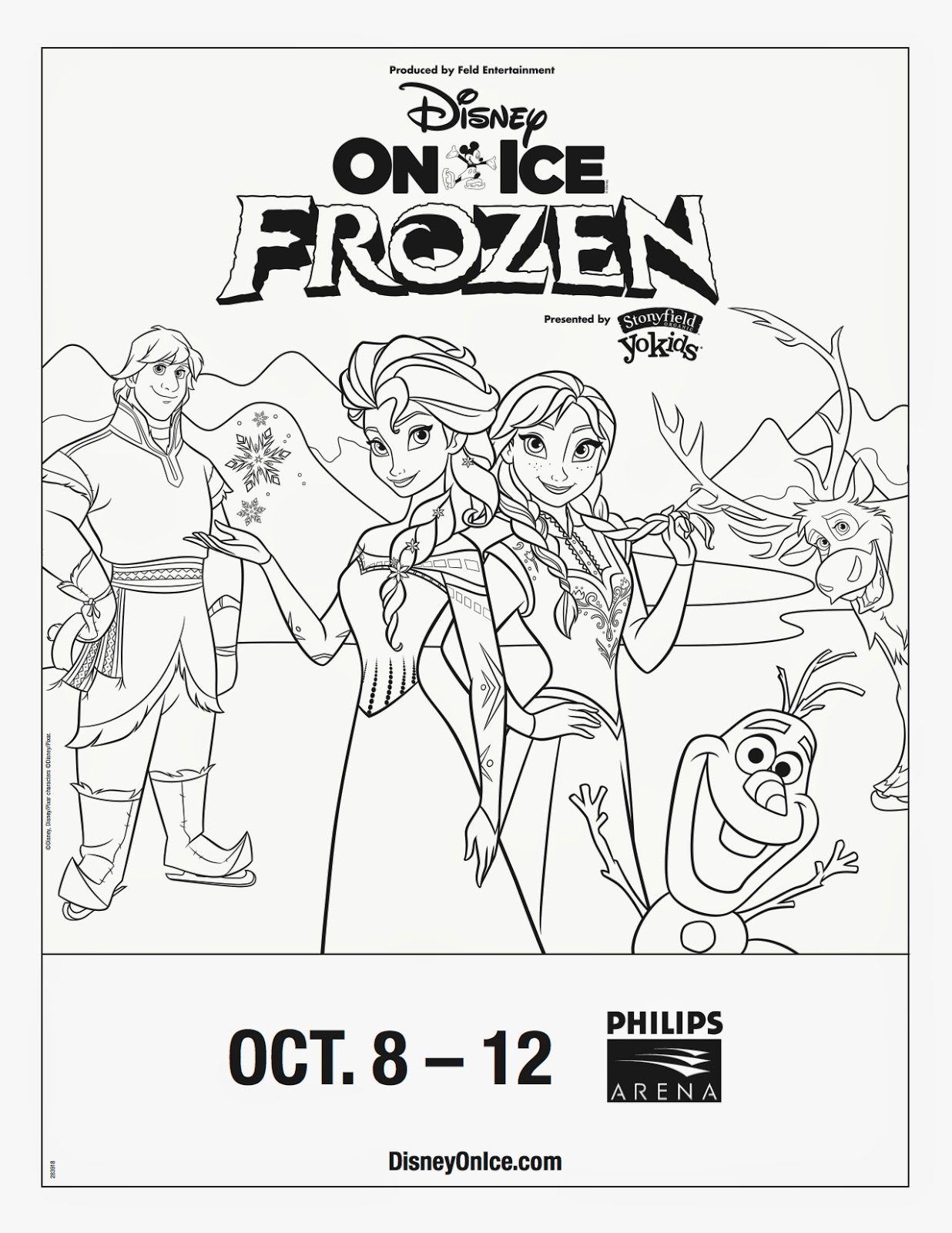 Disney On Ice Frozen Coloring Sheet And Trivia