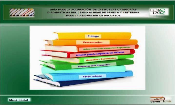 Guía de categorías diagnósticas y recursos para alumnos n.e.a.e.