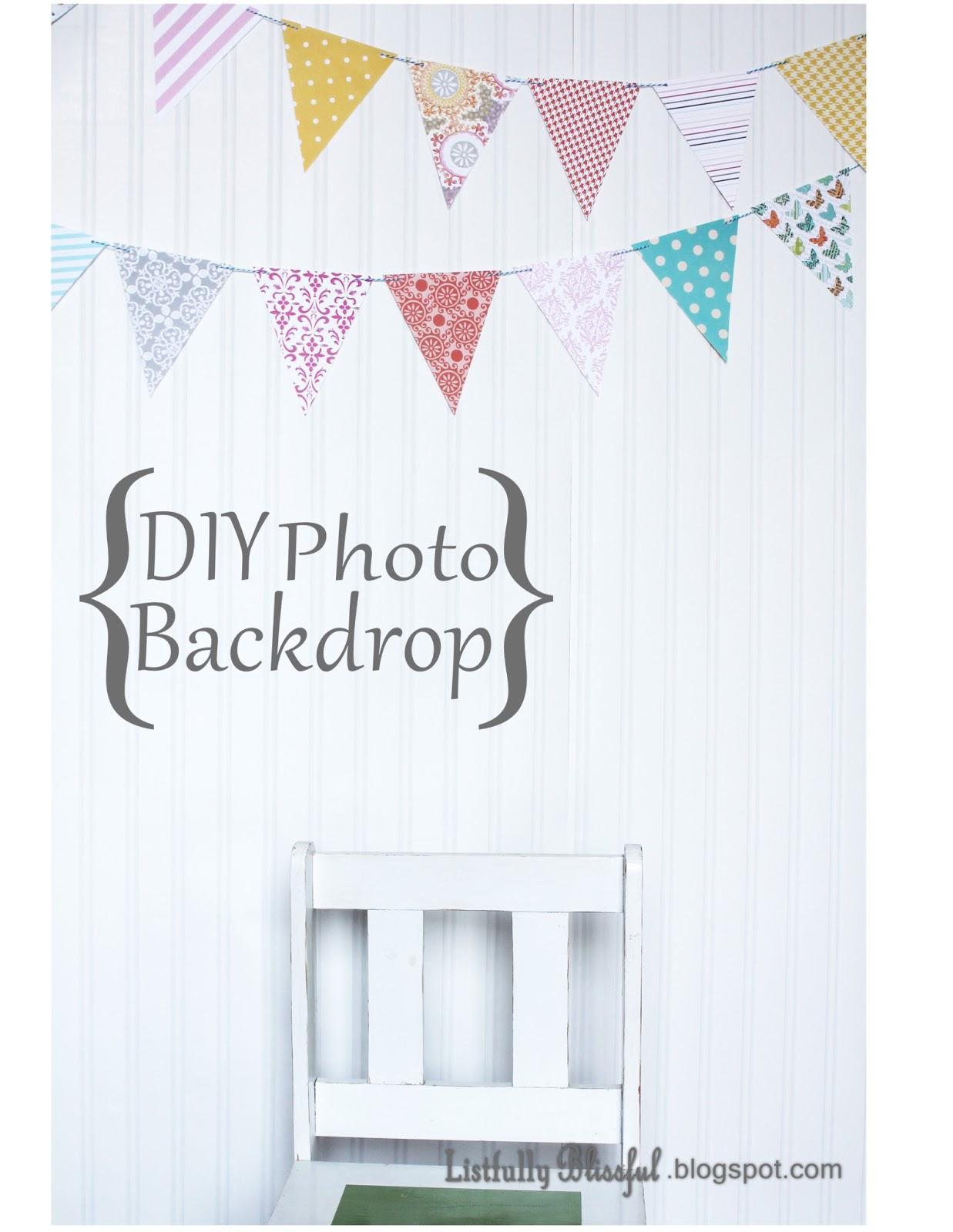 Listfullyblissful Diy Photo Backdrop