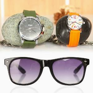 Homeshop18 : Dual Deal – Combo of Trendy Watch by Maxima EGO & Sunglasses at Rs.999 : Buy To Earn